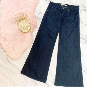 Hudson Dark Wash Wide Leg High Waist Jeans Sz 30